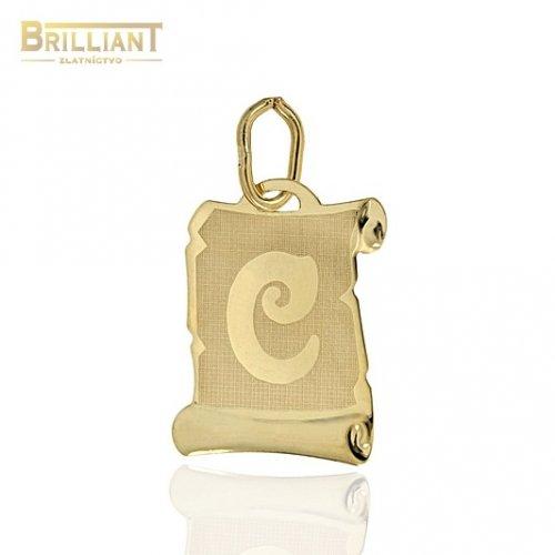 Zlatý prívesok Au585/000 14k písmeno C