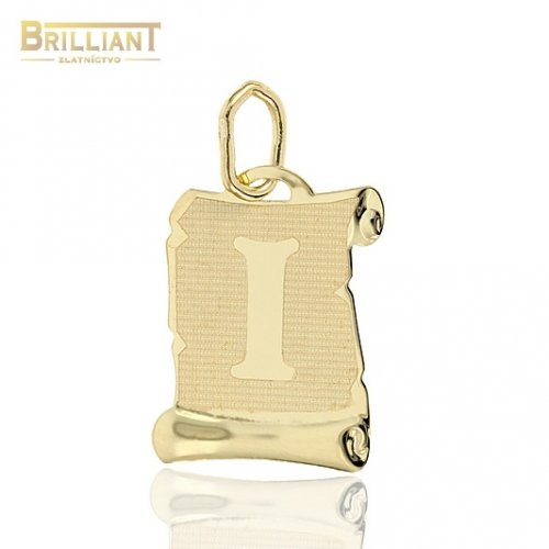 Zlatý prívesok Au585/000 14k písmeno I