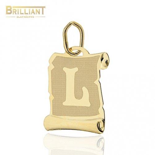 Zlatý prívesok Au585/000 14k písmeno L