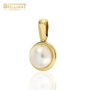 Zlatý prívesok Au585/000 14k s perlou