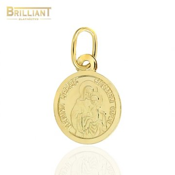 Zlatý prívesok Au585/000 14k Škapuliar 1cm