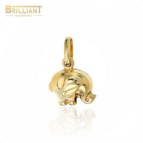 Zlatý prívesok Au585/000 14k sloník