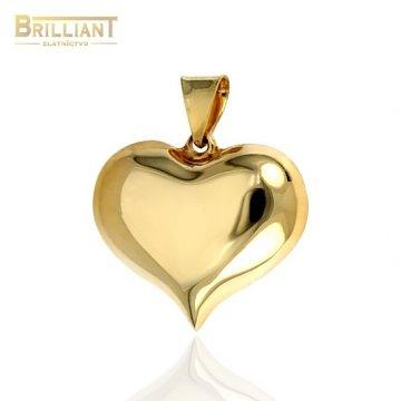 Zlatý prívesok Au585/000 14k srdiečko