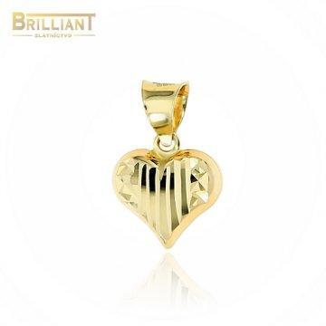 Zlatý prívesok Au585/000 14k srdiečko s gravírom