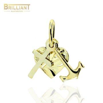 Zlatý prívesok Au585/000 14k Viera nádej láska