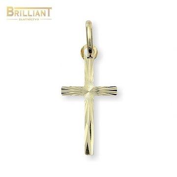 Zlatý Prívesok Au585/000 krížik