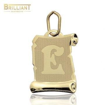 Zlatý Prívesok Au585/000 písmeno E
