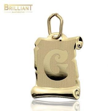 Zlatý Prívesok Au585/000 písmeno G