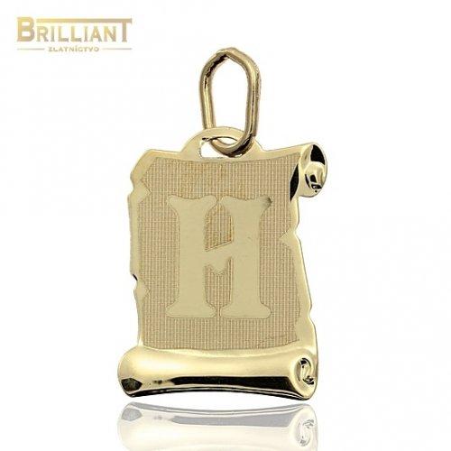 Zlatý Prívesok Au585/000 písmeno H