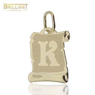 Zlatý Prívesok Au585/000 písmeno K
