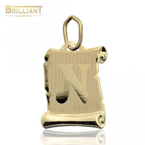 Zlatý Prívesok Au585/000 písmeno N