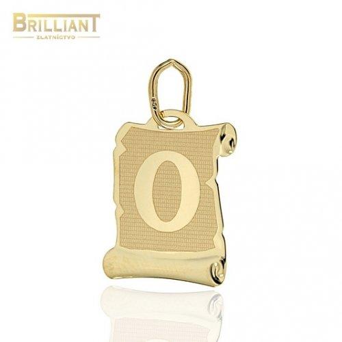 Zlatý Prívesok Au585/000 písmeno O
