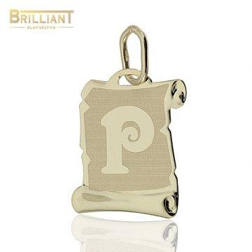 Zlatý Prívesok Au585/000 písmeno P