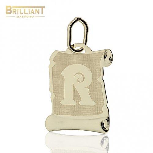 Zlatý Prívesok Au585/000 písmeno R