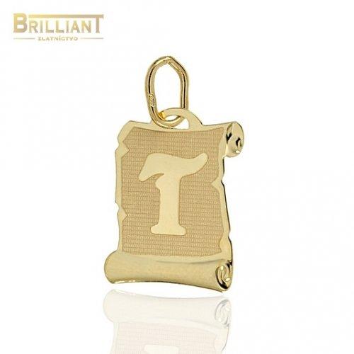 Zlatý Prívesok Au585/000 písmeno T