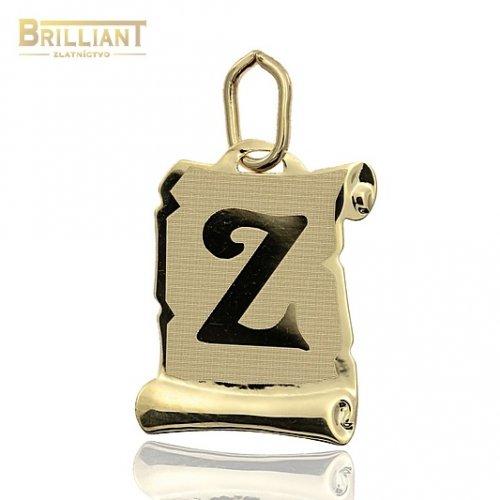Zlatý Prívesok Au585/000 písmeno Z
