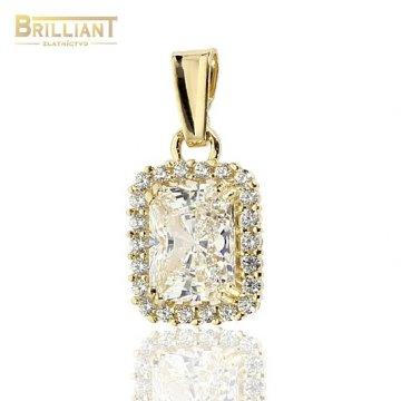 Zlatý Prívesok Au585/000 s kameňmi