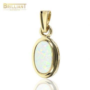 Zlatý Prívesok Au585/000 s opálom 1,0 cm