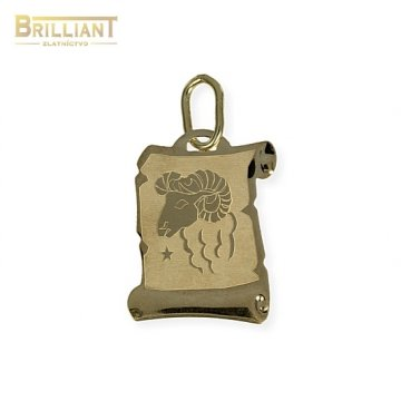 Zlatý Prívesok Au585/000 znamenie Baran
