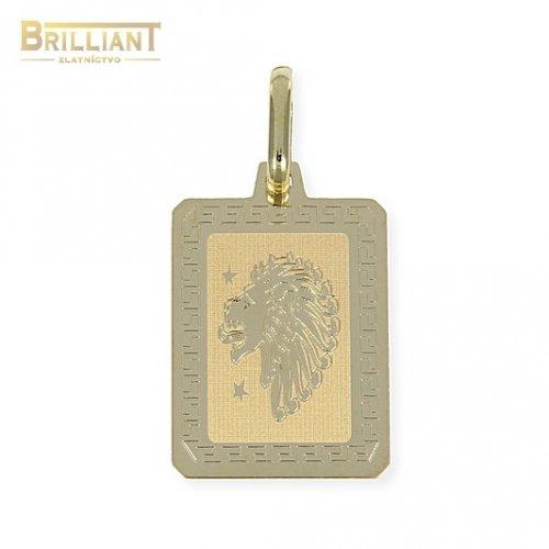 Zlatý Prívesok Au585/000 znamenie LEV