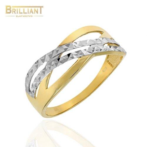 Zlatý prsteň Au585/000 14k gravírovaný