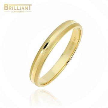 Zlatý prsteň Au585/000 14k Obrúčka mat a gravír.