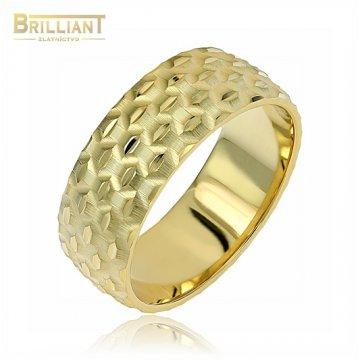 Zlatý prsteň Au585/000 14k obrúčka s gravírom