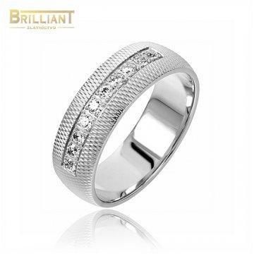 Zlatý prsteň Au585/000 14k obrúčka s kameňmi