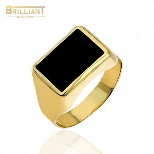 Zlatý prsteň Au585/000 14k pánsky pečatný