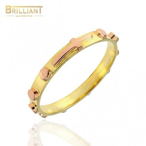 Zlatý prsteň Au585/000 14k Ruženec