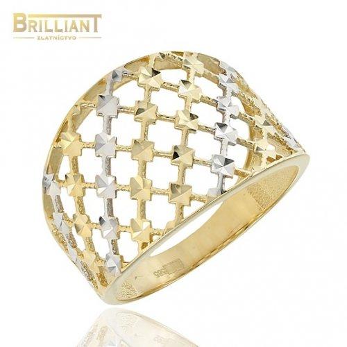 Zlatý prsteň Au585/000 14k s gravírom