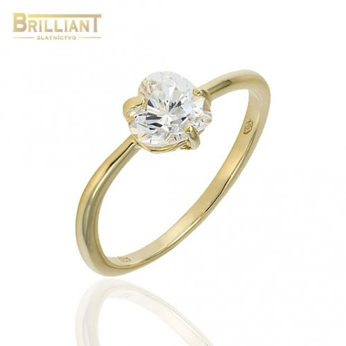 Zlatý prsteň Au585/000 14k so srdiečkom