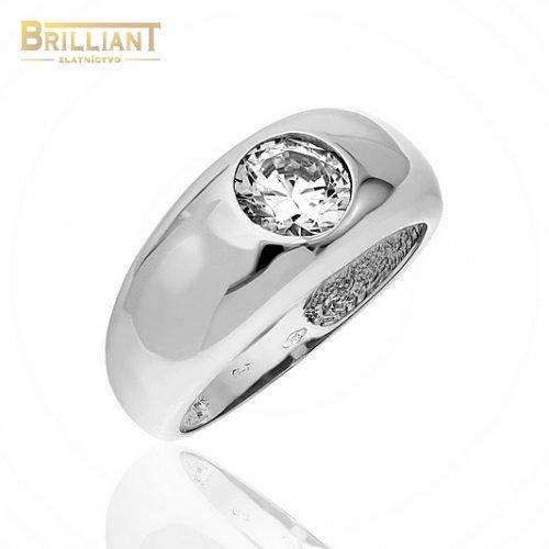 Zlatý prsteň Au585/000 14k so zirkónom biele zlato