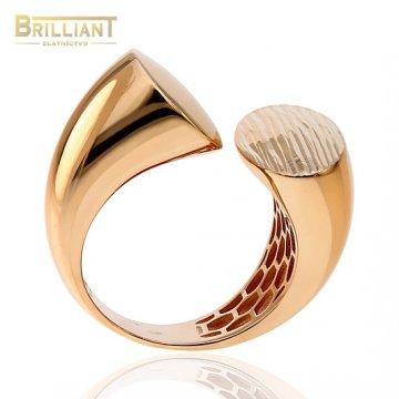 Zlatý prsteň Au585/000 14k Veneroso ružové zlato