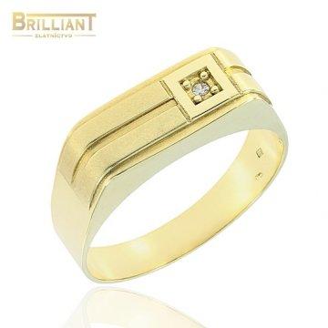 Zlatý Prsteň Au585/000 pánsky pečatný