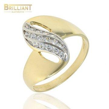 Zlatý Prsteň Au585/000 s kameňmi