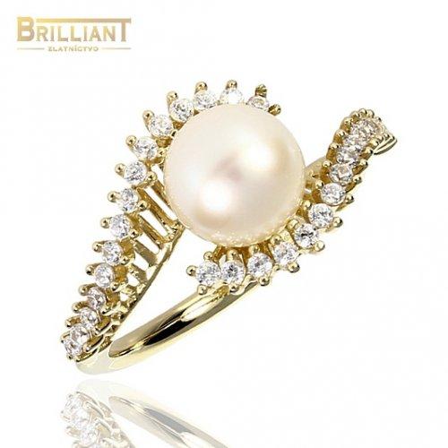 Zlatý Prsteň Au585/000 s perlou