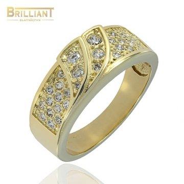 Zlatý Prsteň Au585/000 so zirkónmi