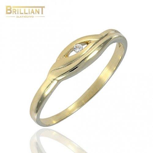 Zlatý Prsteň Au585/000 so zirkónom